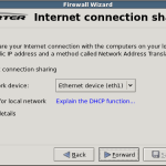 Setup internet connection sharing on ubuntu with Firestarter
