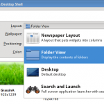 Display icons on kde desktop without using a folder view
