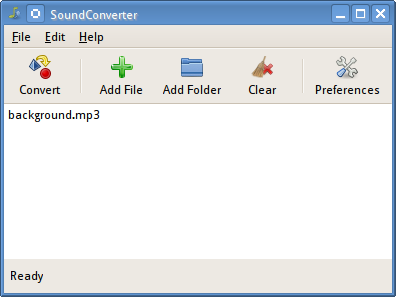 Convert mp3 audio files to ogg on ubuntu