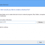 Add a shutdown button to desktop in windows 8