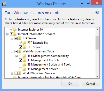 How to setup an ftp server on windows 8
