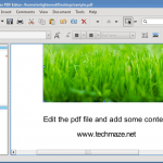Edit pdf files on ubuntu with Master PDF Editor