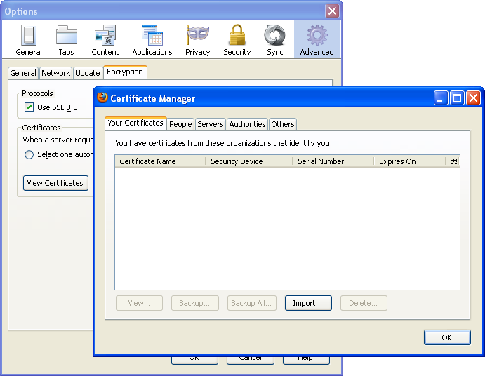Using client side ssl certificates in firefox and chrome – BinaryTides