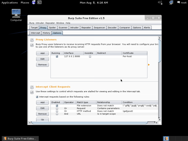 burp suite on kali linux
