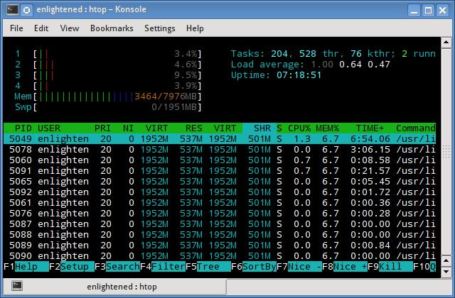 htop memory ram usage