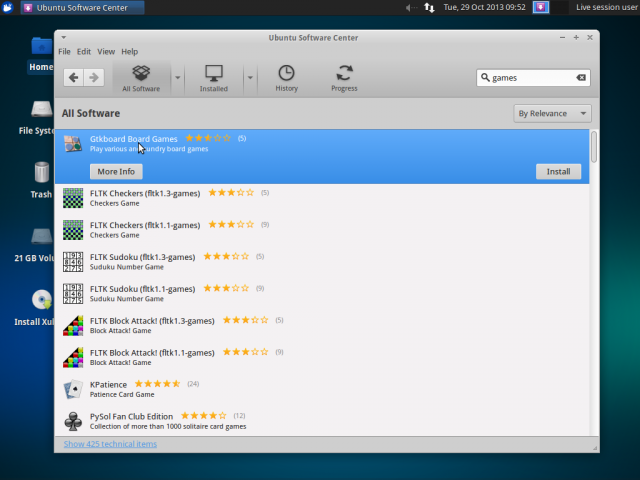 xubuntu 13.10 software center