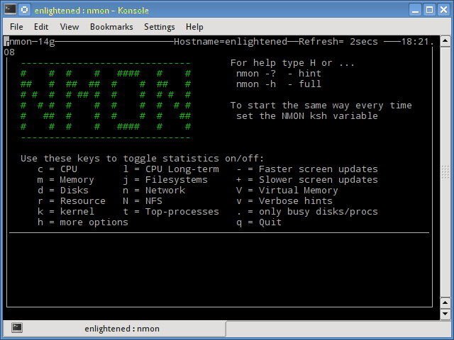Nmon - A nifty little tool to monitor system resources on Linux