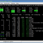 Glances gives a quick overview of system usage on Linux