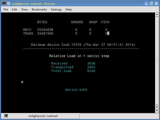 netload linux network monitor