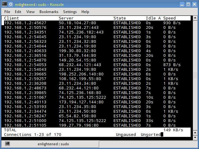 tcptrack command linux