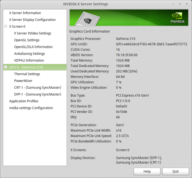 nvidia gpu information linux