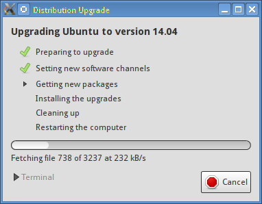update manager downloading new packages on ubuntu 13.10