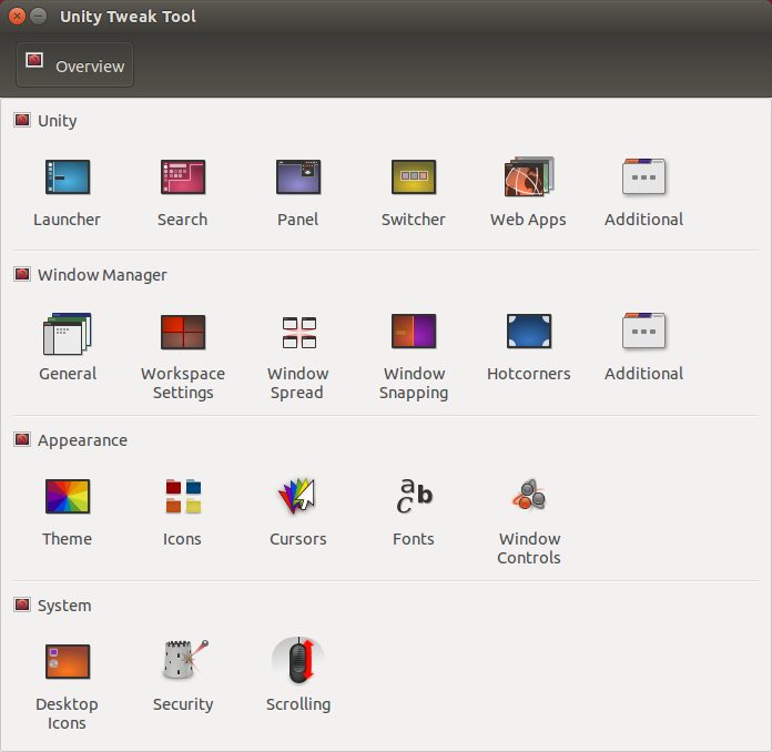 Ubuntu unity tweak tool