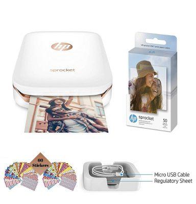HP Sprocket Photo Printer 60 sheets Photo Paper