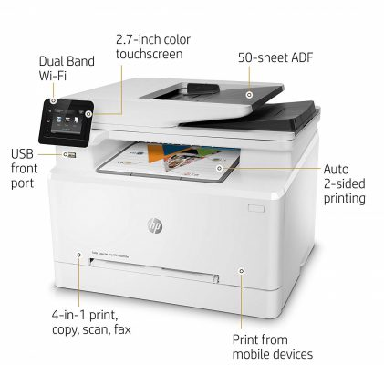 HP LaserJet Pro M281fdw Color Laser Printer Design