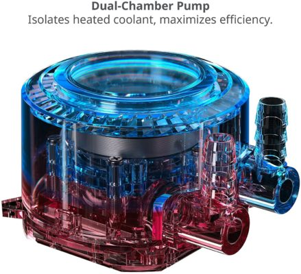 Dual Chamber Pump AIO Cooler