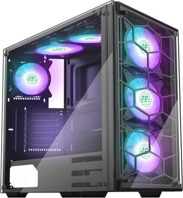 Gaming Computer Case with Tempered Glass