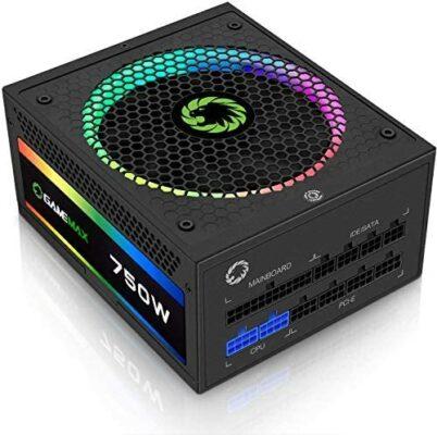 GAMEMAX 750W Fully Modular Power Supply (RGB 750 Rainbow)