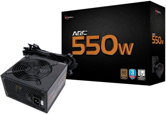 Rosewill Arc Series 550 Watt Gaming Power Supply (ARC550)