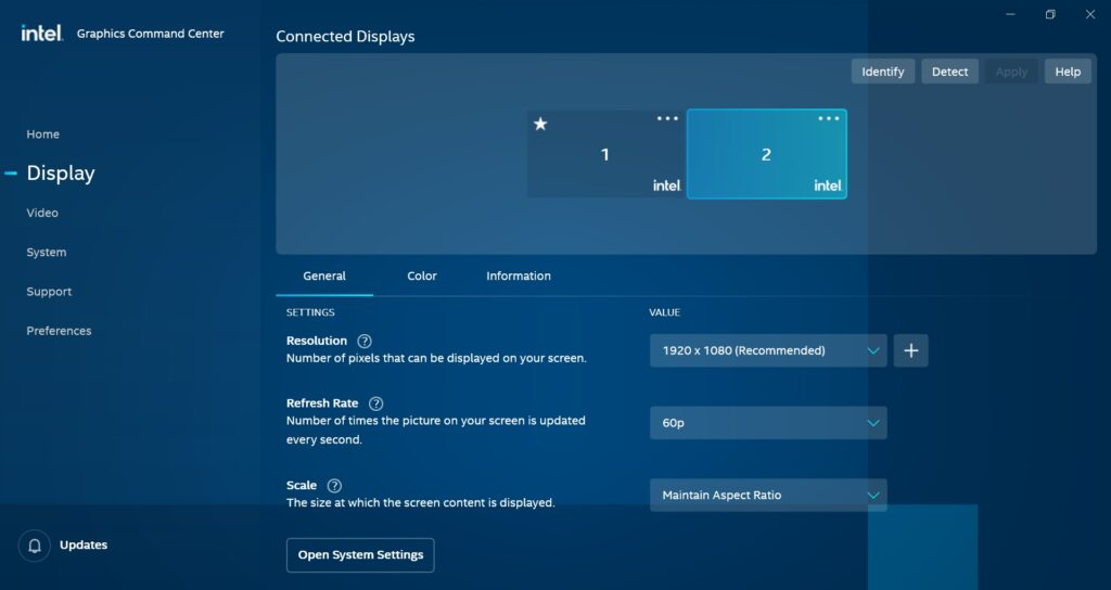 Intel Graphics Command Center - Acer Swift 3 SF314-59-524M