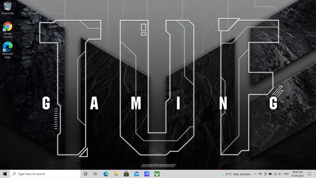 Windows 10 Desktop Asus TUF A17 FA706QM-HX008TS